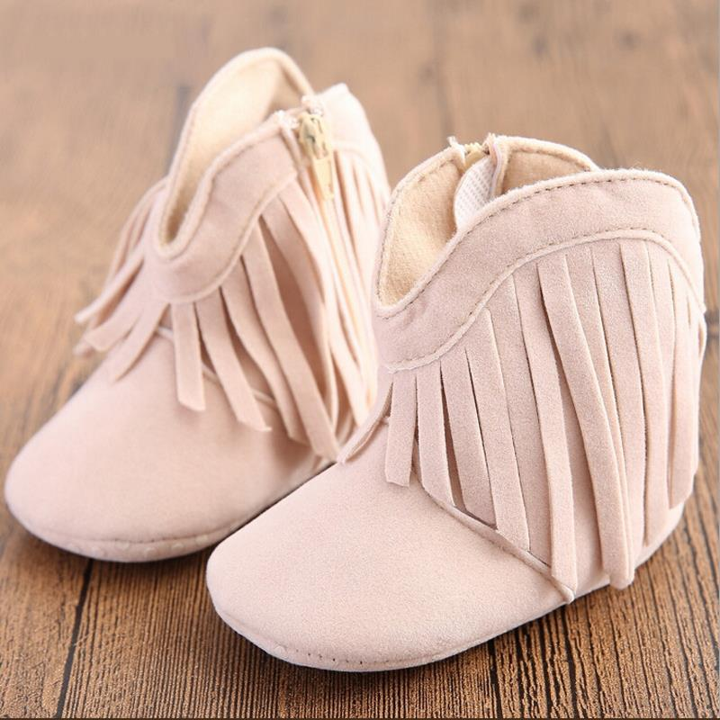baby shoes girls shoes fashion tassel warm cotton baby boots girls soft sole baby girl shoes 0-1 years old toddler girl shoes
