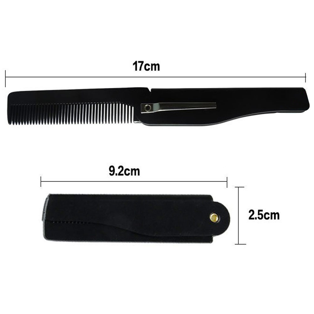Купить с кэшбэком Men & Women Portable Handmade Folding Clip Hairdressing Beauty Moustche Beard Comb Travel Plastic Hair Cutting Comb