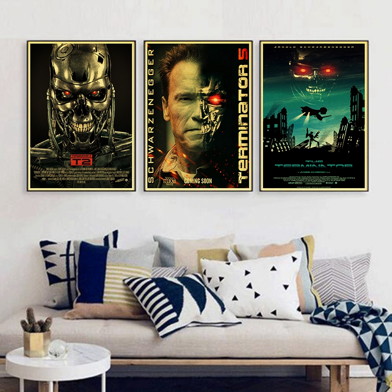 The Terminator Arnold Schwarzenegger Vintage Paper Poster Wall Painting Home Decoration 42X30 CM 30X21 CM