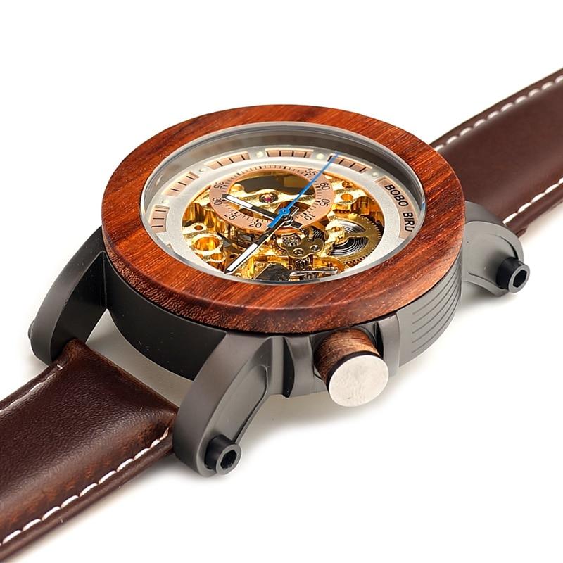 BOBO BIRD Relojes mecánicos de los hombres de la marca de lujo - Relojes para hombres - foto 4