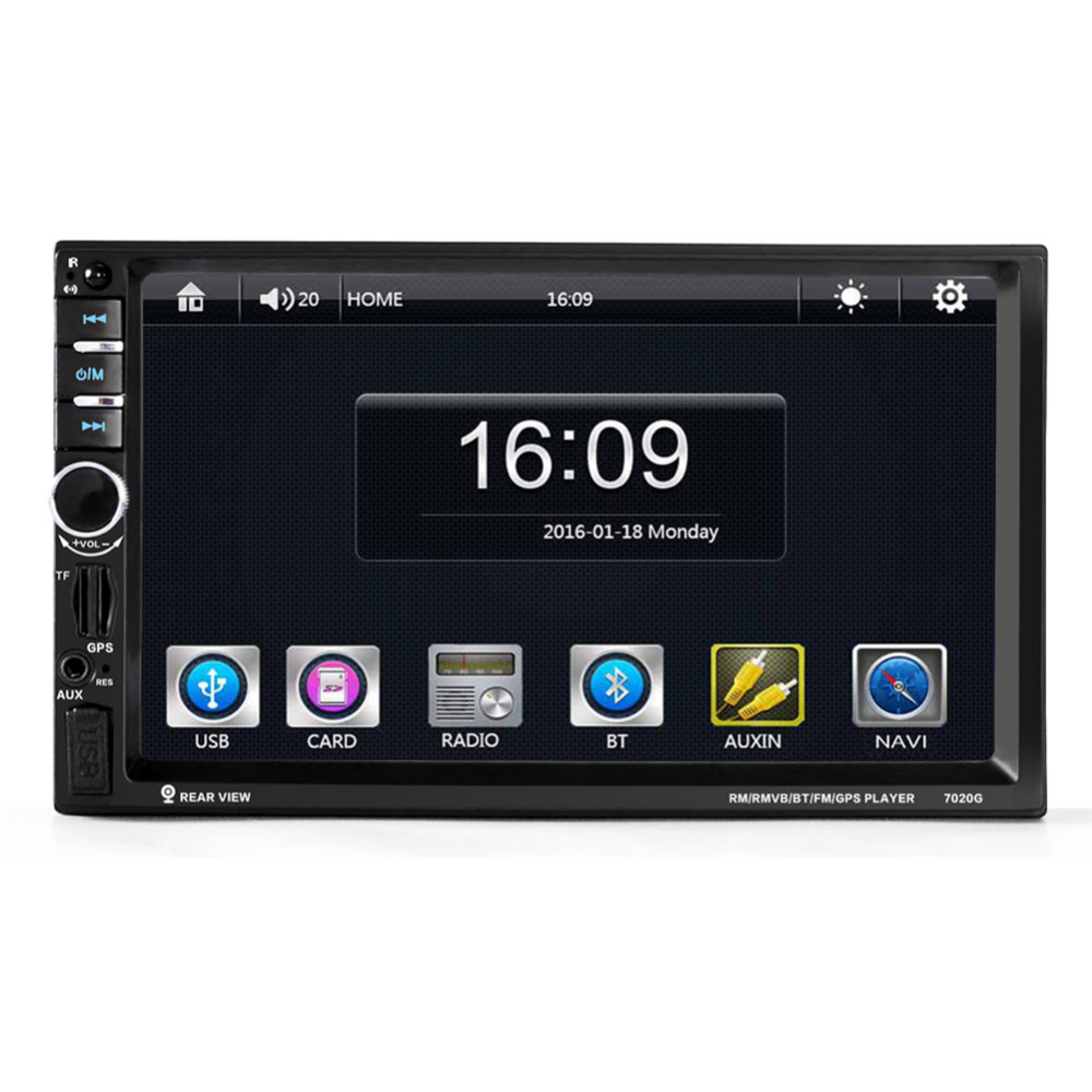 7-inch Universal Car DVD Video Player Bluetooth CD Mp4 Mp5 Player Touch Screen With Rearview Camera Car Gps Tracker Navigation 7 inch universal touchscreen for car audio car navigation dvd zcr 1502 touch screen digitizer panel 164mm 99mm