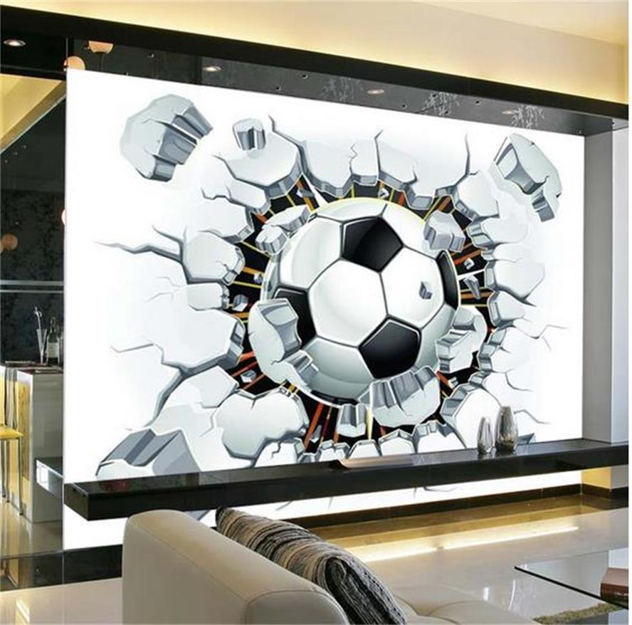 3D Custom Photo Non-Woven Mural Wallpaper Sport Background Mural Living Room Sofa Bedroom Football TV Backdrop Soccer Wallpaper custom 3d photo wallpaper mural non woven living room tv sofa background wall paper abstract blue guppy 3d wallpaper home decor