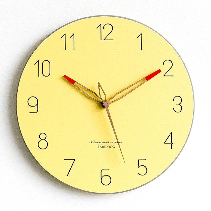 Bref Style grande horloge murale Design moderne montre nordique mouvement Quartz silencieux horloges en temps réel tenture murale décor à la maison pour la vie - 6