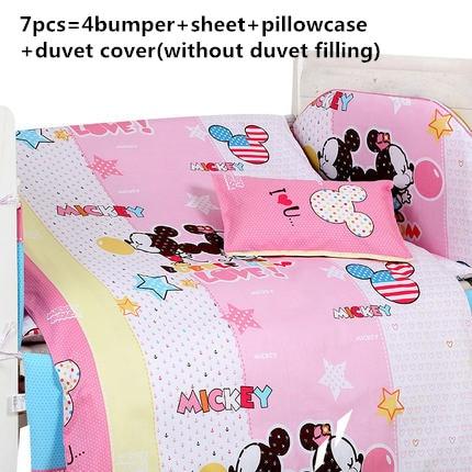 Promotion! 6/7PCS Baby Bedding Set 100% Cotton curtain crib bumper Baby Cot Sets , 120*60/120*70cm promotion 6 7pcs bear bedding crib set 100% cotton crib bumper baby cot sets baby bed bumper duvet cover 120 60 120 70cm