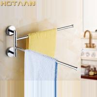 Free Shipping Fashion Brand New High Quality Solid Brass Bathroom Accessory Movable Towel Bars Towel Rail