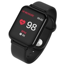 B57 Smart Wristband Bluetooth Heart Rate Blood Pressure Blood Oxygen Detector Alarm Clock Men Sport Smart Watch Wearable Watch(China)