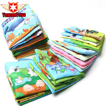 New 6 Style English Soft Fabric Cloth Book 0~12 Months Juguetes Bebe Brinquedos Para Bebe Learning Education Baby Book Toys