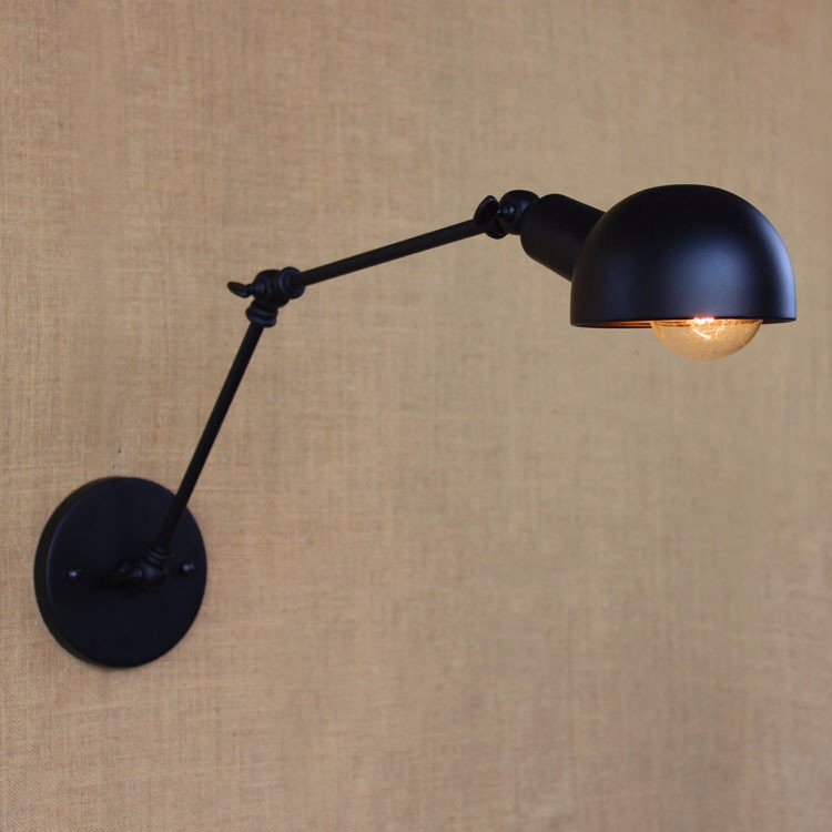 E27 Base Retro Loft Industrial LED Vintage Wall Lamp light Wall Sconce Adjustable Handle Metal Rustic Loft Light Sconce Fixtures (10)