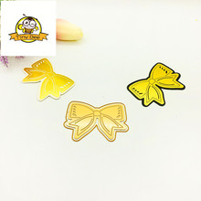 Bow Tie HOT FOIL PLATE Dies Scrapbooking Metal Cutting Die DIY Photo Album Embossing Cut for Card Making Hot Stamping Foil