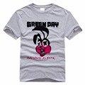 Estilo Hip Hop Camisas Para Os Homens do Sexo Masculino Dia Verde Do Século 21 repartição Do Punk Rock T-shirt do Estilo de Moda Casual Fino de Algodão Das Camisas Das Camisetas