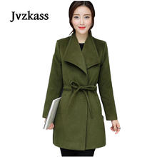 Jvzkass 2018 autumn and winter thickening new models in the long section Slim woolen coat Z61