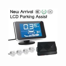 LCD display car parking sensor / reversing kit / parking assist system / Human speaker / Beep reminder / Silence optional A03–4