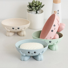 Creative Cartoon Plastic Drain Soap Box Shower Plate Bathroom Home Case Container Travel Holder Dish Candy Color Tray
