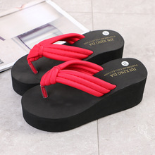 Ladies causal Shoes Woman Summer Fashion Flip Flops Non-Slip Wedges Beach Slippers Femme Flip Flops flip flops versace flip flops page 1