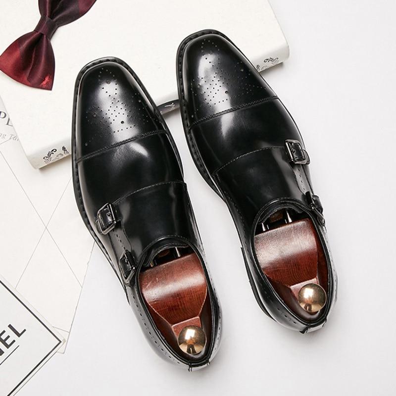 Genuine cow Leather Men dress shoes wedding high quality classic elegant luxury designer male formal shoes