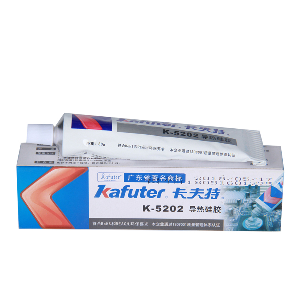Купить с кэшбэком Kafuter K-5202 1PCS 80g  Brand New CPU Thermal Conductive Silicon Grease Paste Glue Adhesive For PCB COB LED Chips 100%