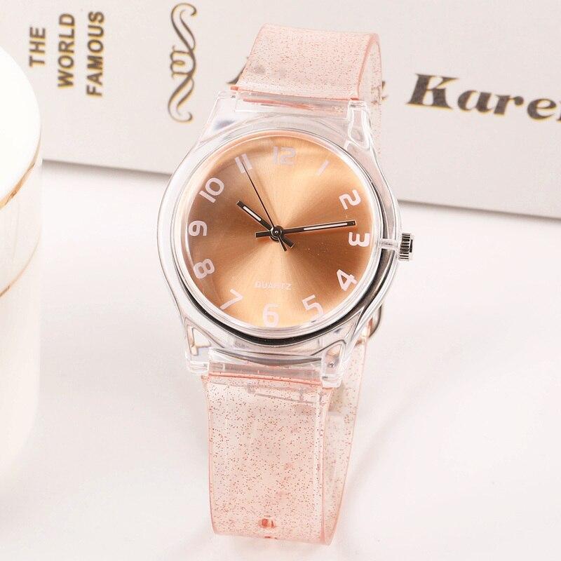 2019 новые модные блестящие прозрачные маленькие женские часы Harajuku, водонепроницаемые спортивные милые детские кварцевые часы для девушек