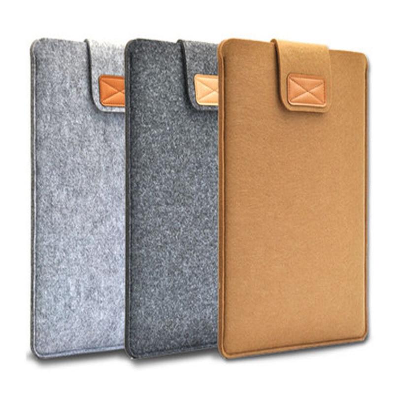Soft Wool Felt package 11 12 13 15 Protective Laptop Bag Sleeve for font b Apple