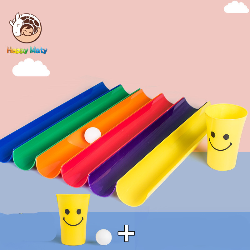 Kinder Outdoor U-kanal Übertragen Bälle Lustige Spiele Schule Aktivität Ausbildung Spielzeug Sport Treffen Spielzeug Bälle für Kinder Schüler