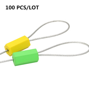 100 PCS Security Self-Locking Seals Wire Metal Cable Ties 40cm container's lock steel for tanker sealing Freight seal lock