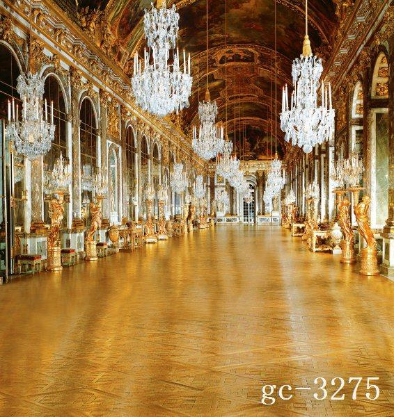 Online Shop 10x10FT Vintage Gold Church Chandeliers Arch Hall