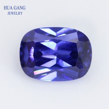 5A Tanzan Blue Baguette Shape Cut CZ Stone Synthetic Gems Cubic Zirconia For Jewelry Size 4x6~8x10 Free Shipping