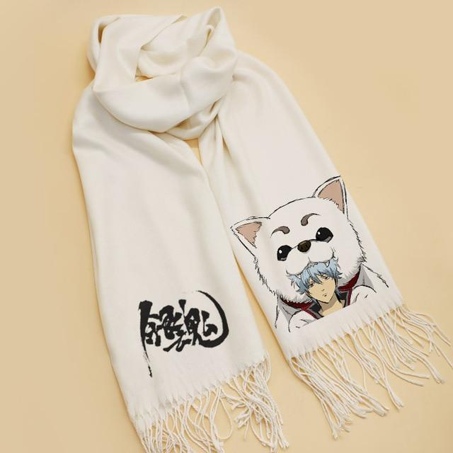 Fashion CHRISTMAS Gifts Japanese Anime Gintama scarves Sakata Gintoki Cosplay SoftScarf Shawl Scarf 1