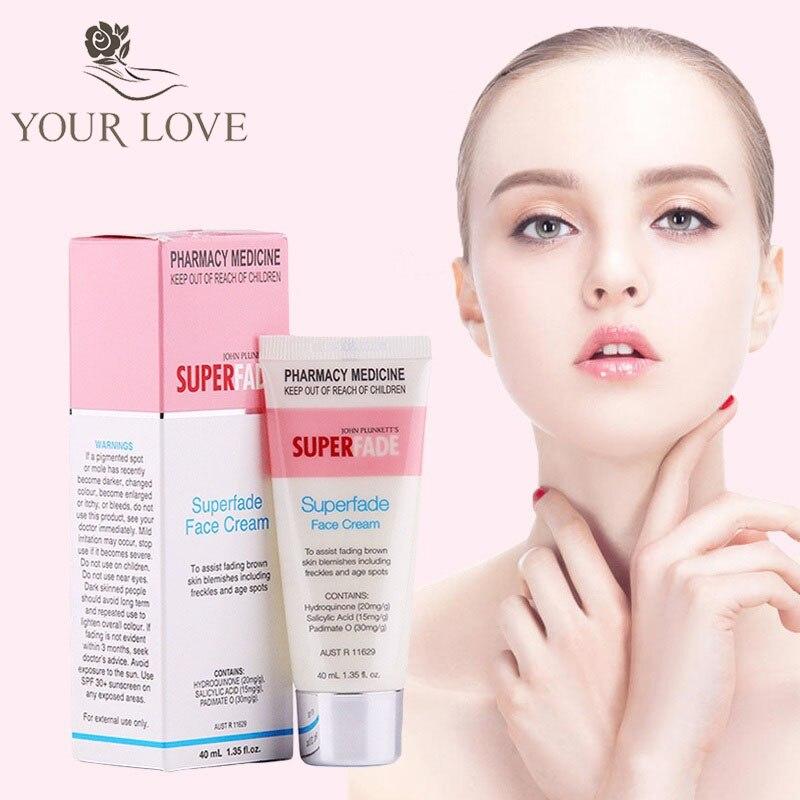 Crème pour le visage à décoloration puissante d'origine australie Superfade 40 ml pour les marques d'hormones foncées-in Crème solaire visage from Beauté & Santé    1