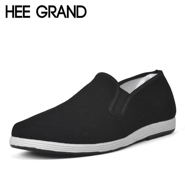 Mocassin Casual Hommes Garçon Chaussures de Sneakers Toile en Bas HEE GRAND kBoHf