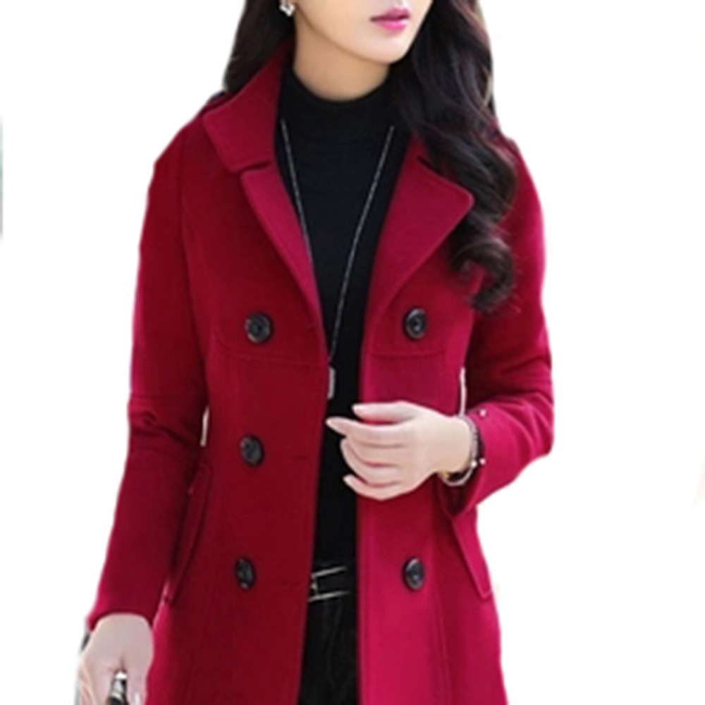 Women Spring Double-Breasted Button Blazers Wool Coat Blaser Femenino Casual Slim Multicolor Women Blazers Jacket top 2018 Y015 ...