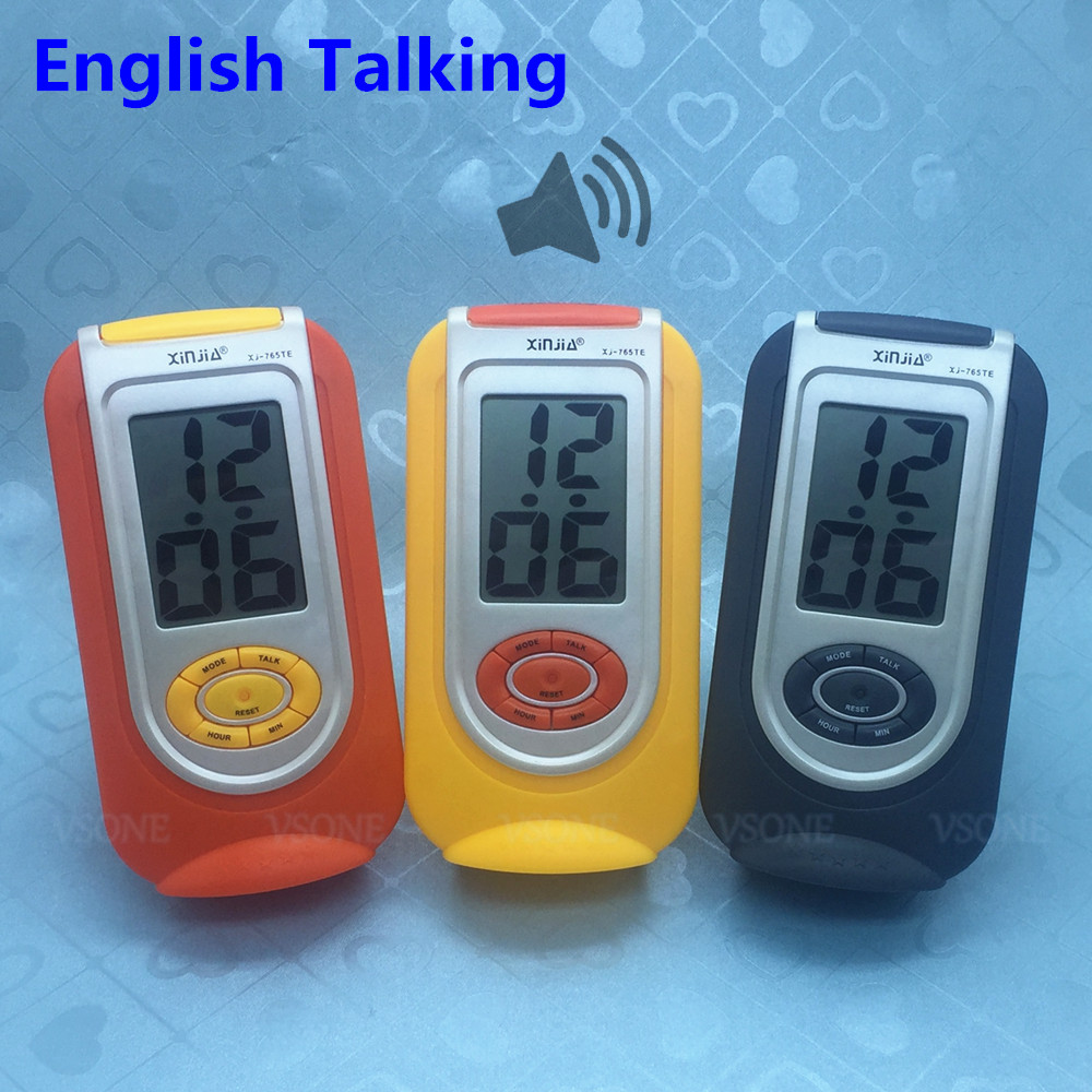 English Talking LCD Digital Alarm Clock For Blind Or Low Vision
