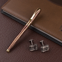 Iridium Roller Ball Pen DIKA WEN Softcover Quality Signature Fountain Pen Office Stationery Gift Cufflinks