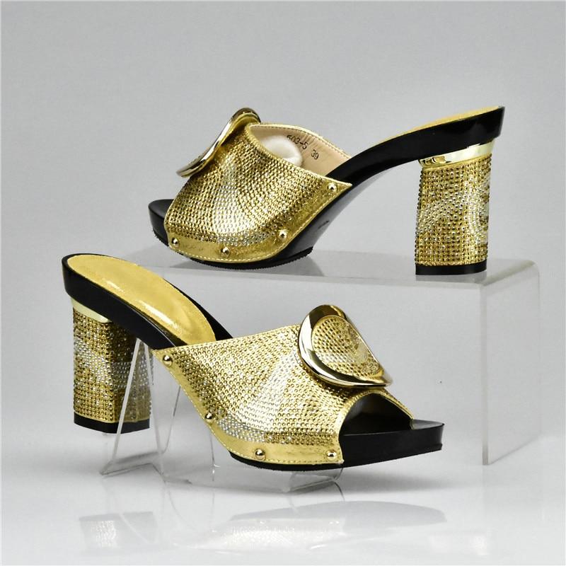 Zapatos oro Conjunto Dorados Boda Juego Mujer Para Y plata Bolsos De amarillo naranja Tacones Altos Italianos Sandalia Negro Africanos A8ffqp5Z