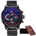 2016 NAVIFORCE Marca de Luxo Relógio de Quartzo Analógico dos homens Homem 3ATM Impermeável Moda Casual Esporte Relógios Homens completa de aço relógio de Pulso