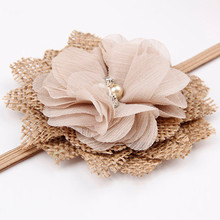 Cute Headbands for Baby Girls with Flower Decoration