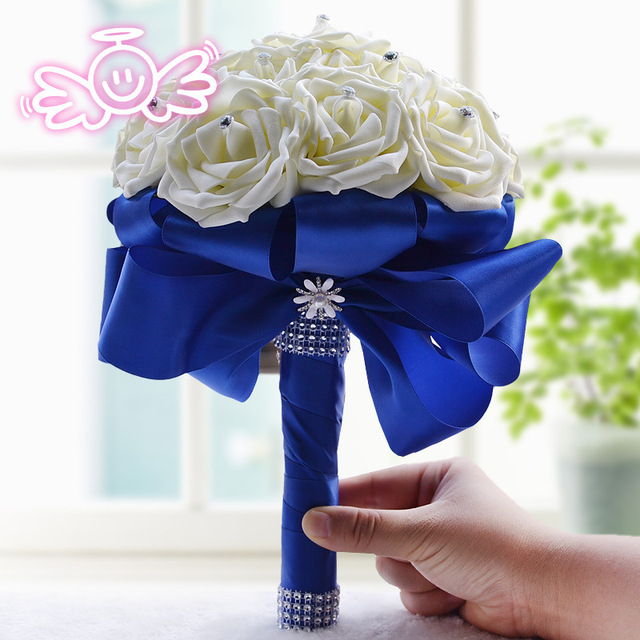 Ivory Moldeada Hecha A Mano Broche de Novia Dama de Honor Ramo De La Boda Artificial Flor Personalizable Para Siempre preservar