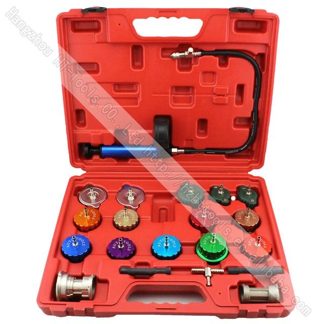 21pcs Universal Radiator Pressure Tester Kit Cooling System Tester Water Tank Leakage Tester Water Tank Leakage Tester