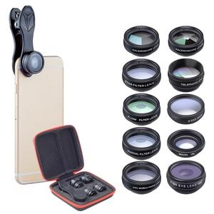 Image 2 - spash 10 in 1 Mobile Phone Lenses CPL Fisheye Macro Wide Angle Lens Phone Camera Lens Kit for iphone Xiaomi Samsung Smartphone