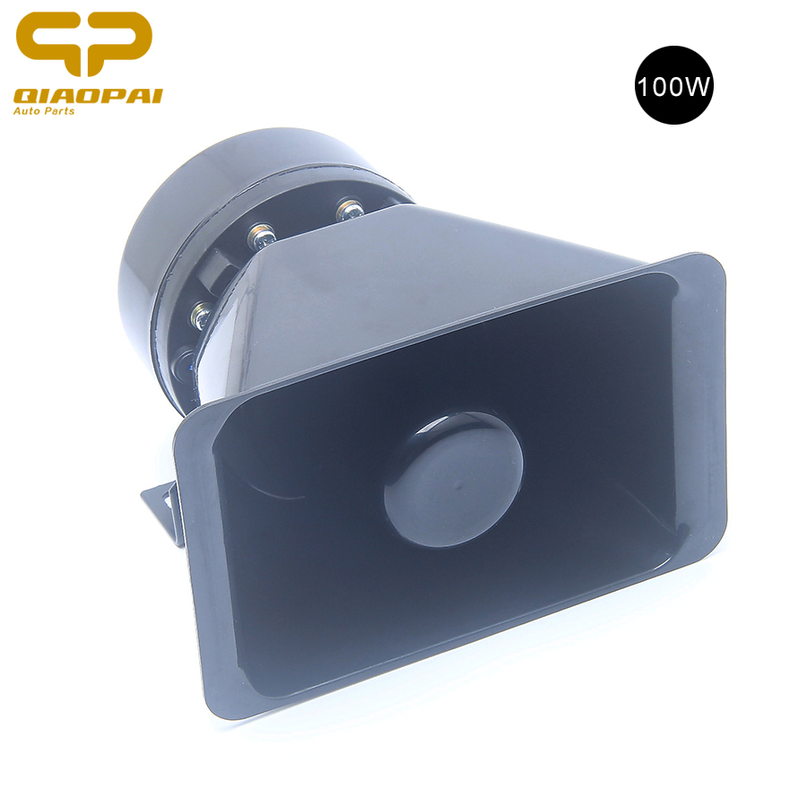 Universal 100W 12V Train Horn Loudspeaker Siren for Car Alarm Warning Speaker Alarm Sounds Police Megafone