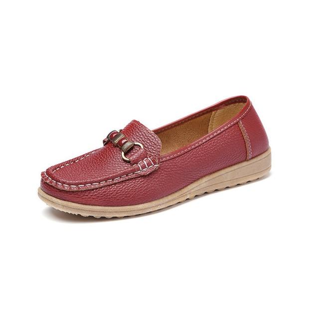 Oma Schoenen Lederen Vrouw Schoen 16 Grote Rijden 83 Ademend doug Vierkante Oude Doug Us Plus Moeder Platte Boot Size Loafers Vrouwen In Hoofd qztHZZ