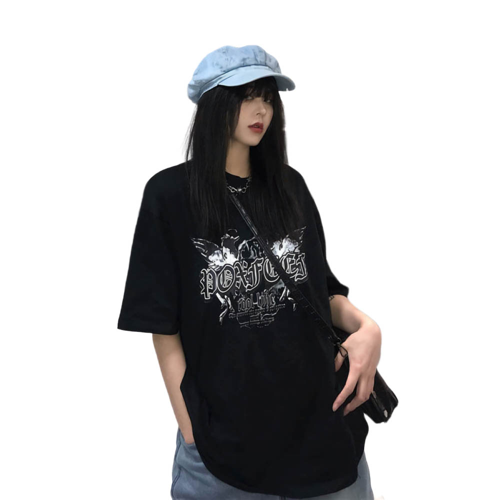 NiceMix Harajuku Streetwear Hip Hop Short Sleeve T shirt For Women Clothing 2019 Summer Korean Vintage Printed Tshirt F in T Shirts from Women 39 s Clothing