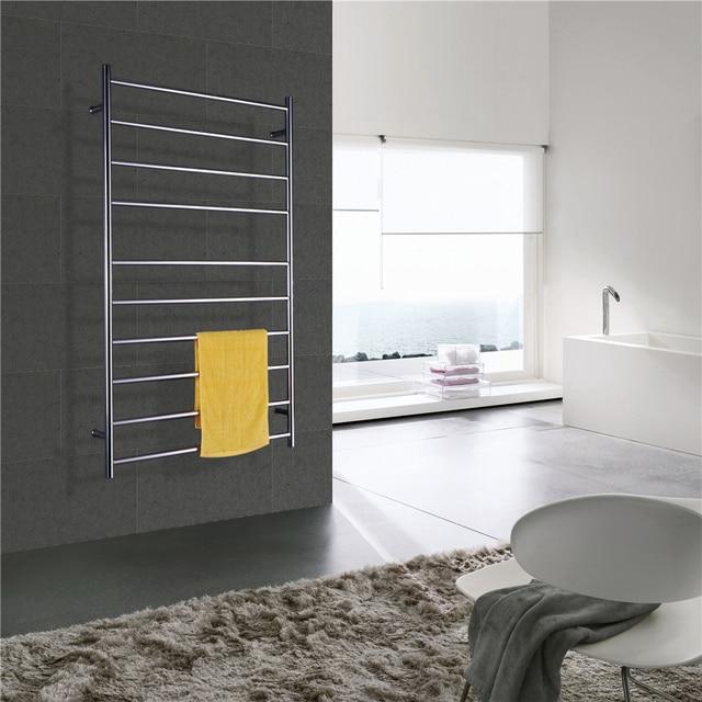 Chauffe-serviettes électrique mural acier inoxydable 304 | Livraison gratuite, poli, chauffe-serviettes/porte-serviettes chauffant, Rail de serviettes avec bride