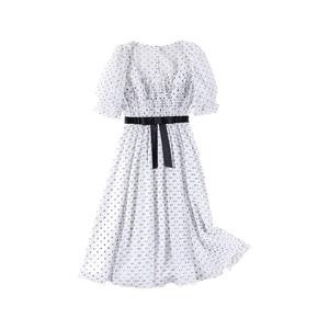 Image 5 - Dabuwawa Womens Retro Sweet Polk Dot Fariry Midi Dress  New Summer Elegant Party Dating Dress DN1BDR127