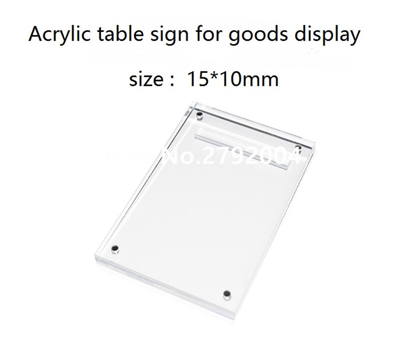 mobile phone retail store EAS system desktop acrylic solid glassy price tag 150*100mm cell mobile phone tablet pc retail store price holder labels stand acrylic poster holders shelf for brand specialty store