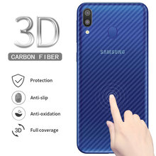 5pcs Full Cover Screen Protector Protective Film For Samsung Galaxy M20 M10 Back Carbon Fiber