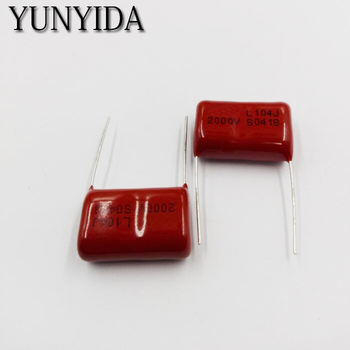 High Voltage CBB  Capacitor Metal Cbb81 2000V  2KV 104J 0.1UF 100NF Cbb22  10PCS  104 2000V