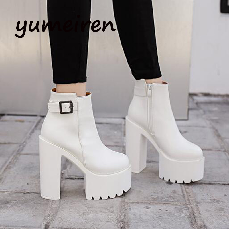 snow boots with fur platform shoes women winter boots high heels gladiator ankle high boots autumn shoes short white boots X174 стоимость