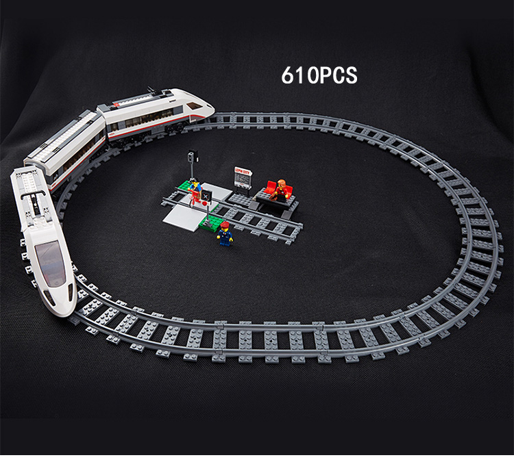 Hot radio remote control High speed passenger train building block model figures Railway track bricks 60051 rc toys collection 610pcs lepin 02010 rc high speed passenger train city creator trains citi building bricks blocks toys compatible 60051 diy