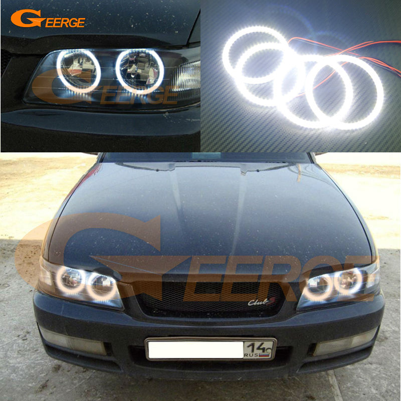 For Nissan Laurel Club S C35 1997 1998 1999 2000 2001 2002 Excellent Ultra bright illumination smd led Angel Eyes Halo Ring kit for nissan laurel club s c35 1997 1998 1999 2000 2001 2002 excellent multi color ultra bright rgb led angel eyes kit halo rings