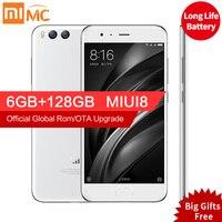 Original Xiaomi Mi 6 Mi6 6GB RAM 128GB Snapdragon 835 Octa Core 5 15 12MP 1920x1080p